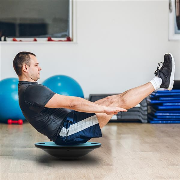Swing Balance Board Advanced Fitness Therapy Board with Handle Blue