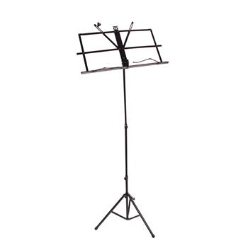 [Do Not Sell on Amazon]Glarry Handy Portable Adjustable Folding Music Stand with Bag Black