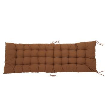 "61x19"" Folding Chair Cushion Brown"