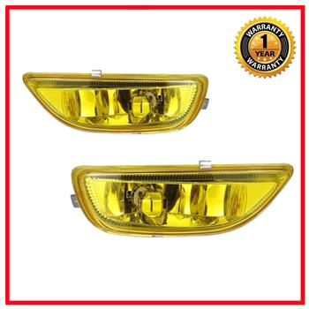 2x Yellow Bumper Driving Fog Lights Lamps For 2001-2002 Toyota Corolla