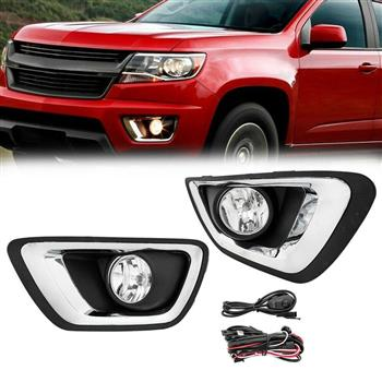 For 15-19 Chevy Colorado Fog Light w/Wiring Switch Bulb Pairs