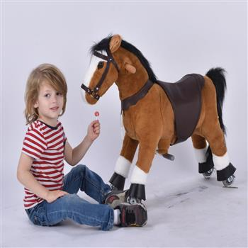 UFREE Small 29'' Ride-on Horse for Children 3-6 Years Old. (Black Mane and Tail) (DO NOT SELL ON AMAZON) (DISCOUNT ON BULK PURCHASE)