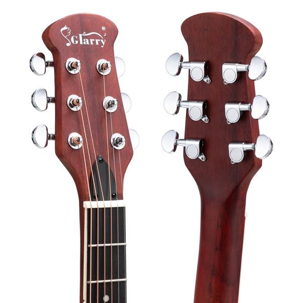 [Do Not Sell on Amazon]Glarry 41 inch Full-Size Cutaway Acoustic-Electric Guitar Grape Voice Hole Spruce Top Round Back Sunset Color