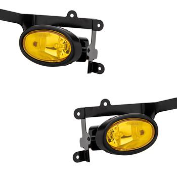 For 2006-2008 Honda Civic 2Dr Coupe Yellow Bumper Fog Lights Pair & Switch Kit