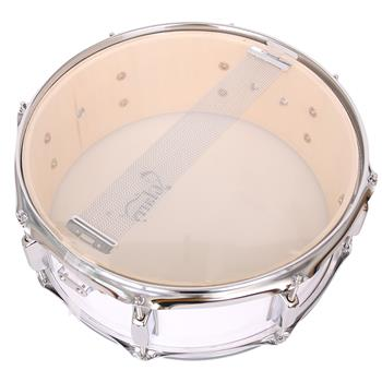 """[Do Not Sell on Amazon]Glarry 14 x 5.5"""" Snare Drum Poplar Wood Drum Percussion Set White"""