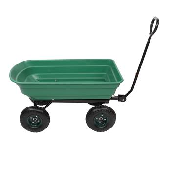 94*52*22cm Iron Plastic Four Wheels Garden Cart Green