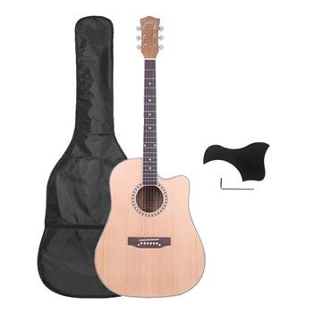 [Do Not Sell on Amazon]Glarry GT602 41 inch Dreadnought Spruce Front Cutaway Zebrano Back Folk Guitar with Bag & Board & Wrench Tool Burlywood