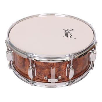 """[Do Not Sell on Amazon]Glarry 14 x 5.5"""" Snare Drum Poplar Wood Drum Percussion Set Tiger Stripes"""