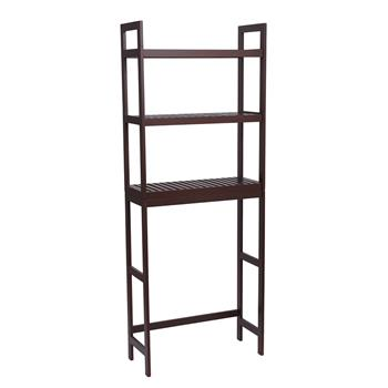 100% Bamboo Bathroom Rack 3-Layer Multifunctional Adjustable Shelf 63 * 26 * 163-Dark Brown