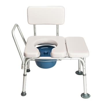 Multifunctional Aluminum Elder People Disabled People Pregnant Women Commode Chair Bath Chair Light Gray