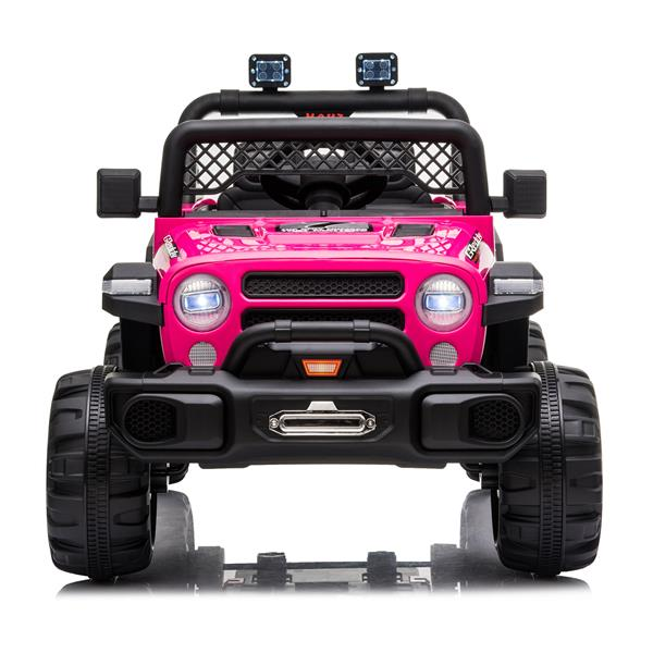 BBH-016 Dual Drive 12V 4.5A.h with 2.4G Remote Control off-road Vehicle Rose Red