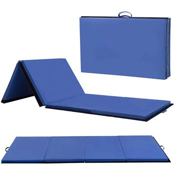 "4""*10""*2"" Four-Folded Gymnastic Mat Blue"