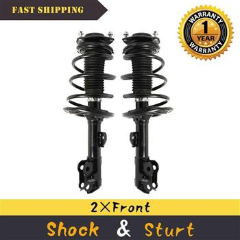 For 2012-2016 Toyota Camry (2) Front Complete Strut Shocks w/ Coil Springs Mount