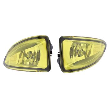 Fog Lights for 2004-2005 Honda Civic with Wiring & Switch & Bezels Yellow Lens