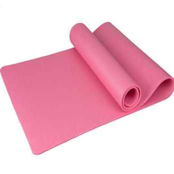 15mm Thick NBR Pure Color Anti-skid Yoga Mat 183x61x1.5cm Pink