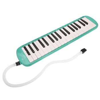 [Do Not Sell on Amazon]Glarry 37-Key Melodica with Mouthpiece & Hose & Bag Green