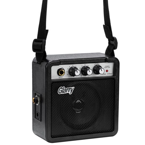 """[Do Not Sell on Amazon]Glarry 30"""" Maple Fingerboard Electric Guitar Amplifier Bag String Shoulder Strap Plectrum Cord Wrench Tool Dark Blue"""