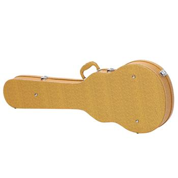 [Do Not Sell on Amazon]Glarry Hard-Shell Electric Guitar Case Bulge Surface Yellow