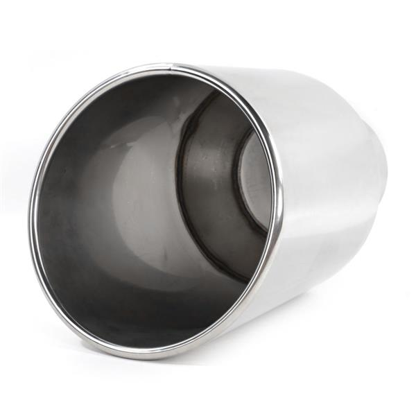 "Polished Stainless Steel Exhaust Tip for Most Vehicles With 5"" Diameter Inlet Size Only"