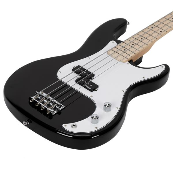 [Do Not Sell on Amazon]Glarry GP II Electric Bass Guitar with Wilkinson Pickup,Warwick Bass Strings,Bone Nut Black