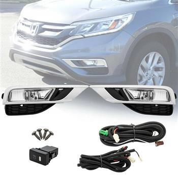 For 15-16 Honda CR-V EX Sport Utility 4Dr Fog Lights w/Bulb Wiring Switch LH&RH