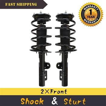 Set of 2 Front Quick Complete Struts Shock Absorbers Springs For 09-11 Ford Flex