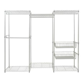 Closet System Organizer White With Sliding Baskets