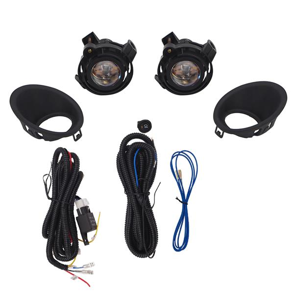 Left&Right Fog Lights For 14-15 Chevy Camaro w/Wiring Switch Bulb
