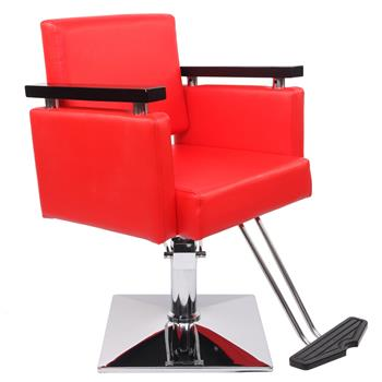 Hair Beauty Equipment Hydraulic Barber Chair Modern Red Styling Salon Haircut