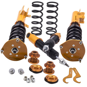 4pcs Coilovers Coil over Kits For Volvo S70 1998-2000 Adj. Height Shock Absorber