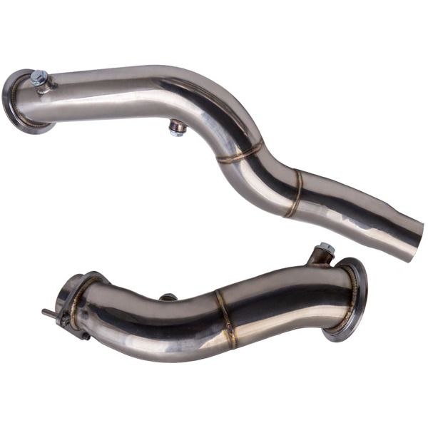 2x Exhaust Downpipe 3 inch M2 S55 for BMW M3 M4 F8X F80 F82 F83 Down Pipe 15-18