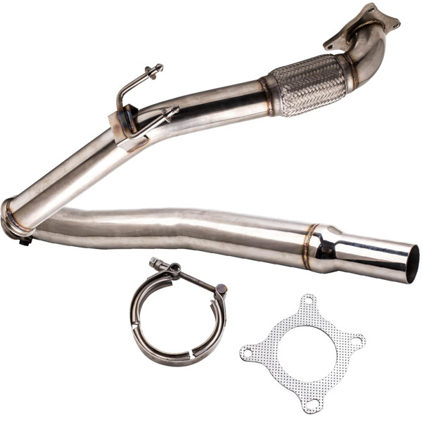 排气歧管 3 inch Turbo Downpipe Exhaust Pipe Fit VW Golf GTi MK5 MK6  2.0T 2003-2012