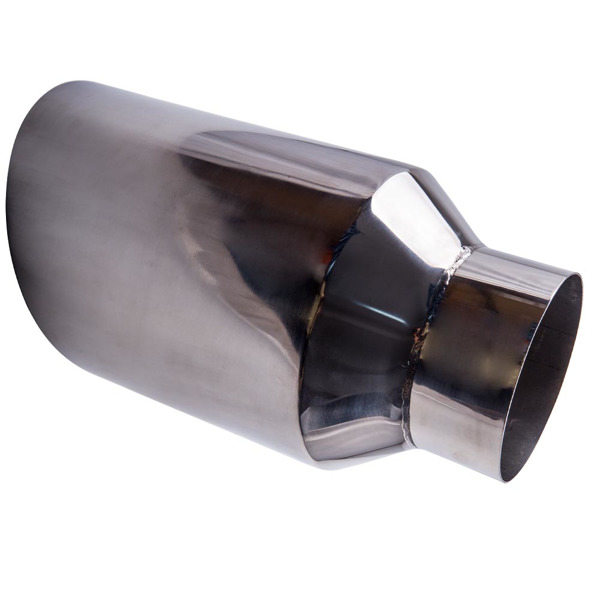 """5 inch Inlet 8"""" Outlet 15 inch Long Rolled End Angle Cut Exhaust Tip Tail Pipe"""