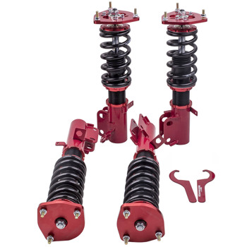 4pcs Front+Rear Shock Struts Coil Spring Assembly Fit 1988-1999 Toyota Corolla