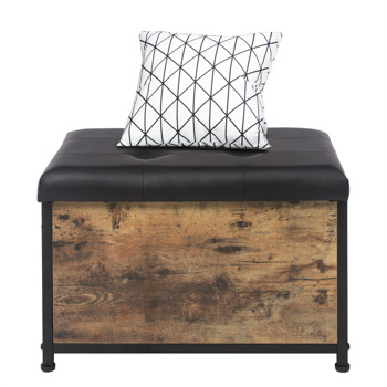 """23.6"""" Sturdy Entryway Storage Bench, Bed End Stool,Vintage Color"""