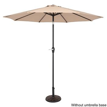 9FT Central Umbrella Waterproof Folding Sunshade Top Color(Resin Baseis not included, and 75690825、65010574、94617980、53133242 codes are required for the resin base)