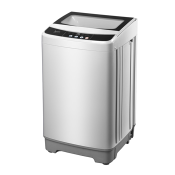 ZOKOP Full-Automatic Washing Machine Portable Compact Laundry Washer Spin ,10 programs 8 Water Level Selections with LED Display 13.3 Lbs Capacity, Gray