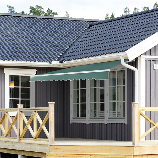 2.5x2 m Retractable Awning Green