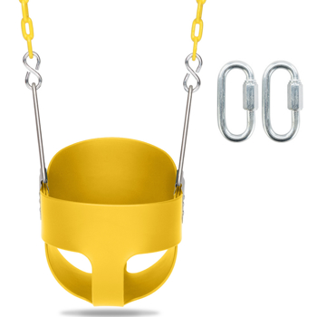 Swing Set Stuff Highback Full Bucket Swing Yellow