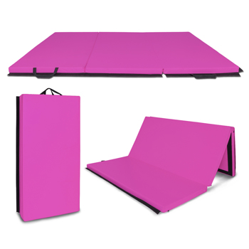 "6""*4""*2"" Three-Fold Belt And Gymnastic Mat Purple"
