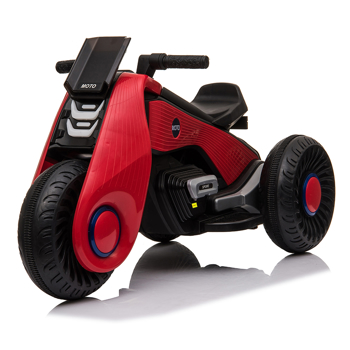 Children's Electric Motorcycle 3 Wheels Double Drive Red