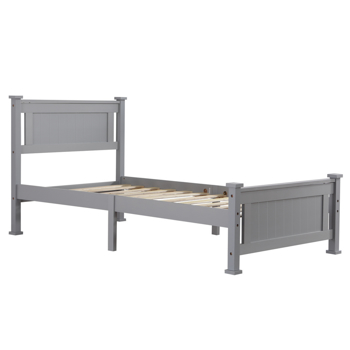 Vertical Decorative Core Bed Grey Twin