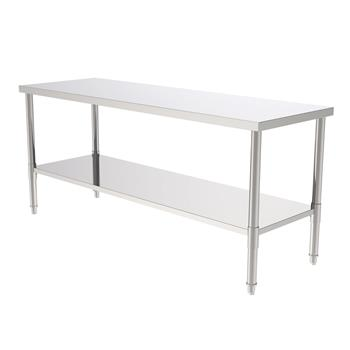 """72"""" Stainless Steel Galvanized Work Table (without Back Board)"""