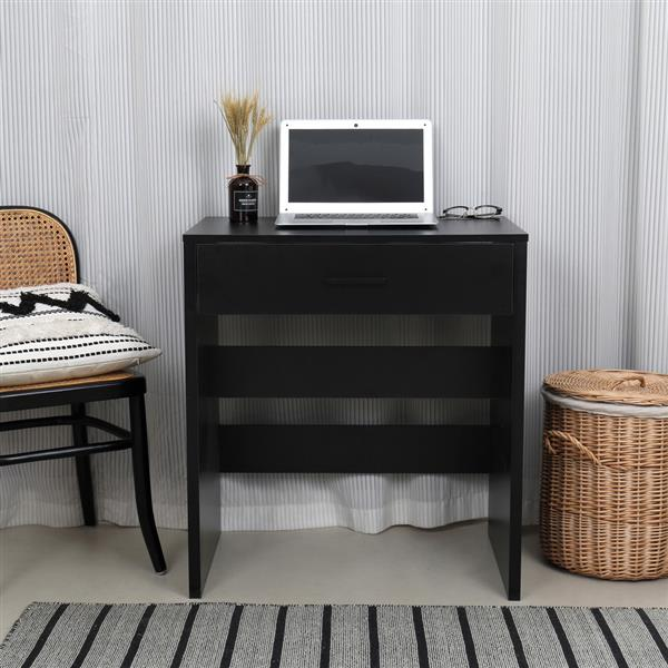 FCH Single Drawer Dresser with Light Cannon and Large Mirror Black Cold White Light