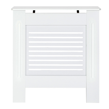 MDF Wood Radiator Cover Board Stripe Pattern White Painted S