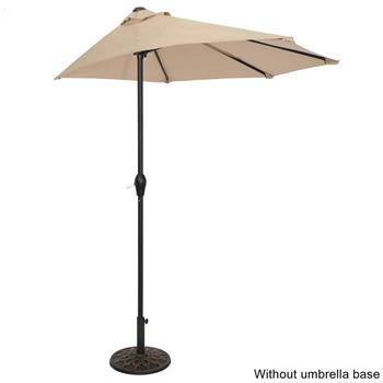 9FT Half Umbrella Waterproof Folding Sunshade Top Color(Resin Baseis not included, and 75690825、65010574、94617980、53133242 codes are required for the resin base)