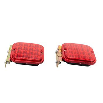 "2x Red 4.5"" Trailer Tail Light Kit For Brake RV Boat Truck Turn Signal Led Light"