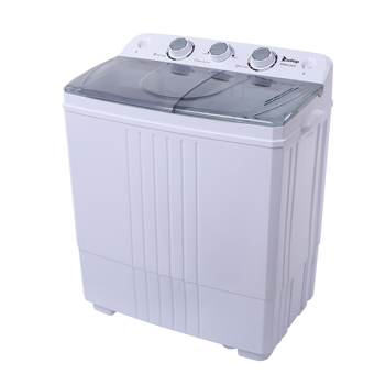 ZOKOP XPB45-ZK45 16.5(9.9 6.6)lb Semi-automatic Cover Washing Machine Gray