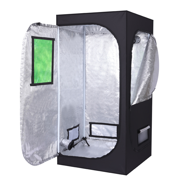 LY-80*80*160cm Home Use Dismountable Hydroponic Plant Growing Tent with Window Green & Black