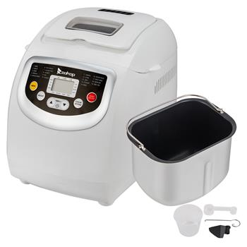 ZOKOP BM8021 2LB Bread Maker Machine With Automatic Feeding Function,High Temperature Resistant Environmental Protection Plastic ,White ,110V 550W US plug